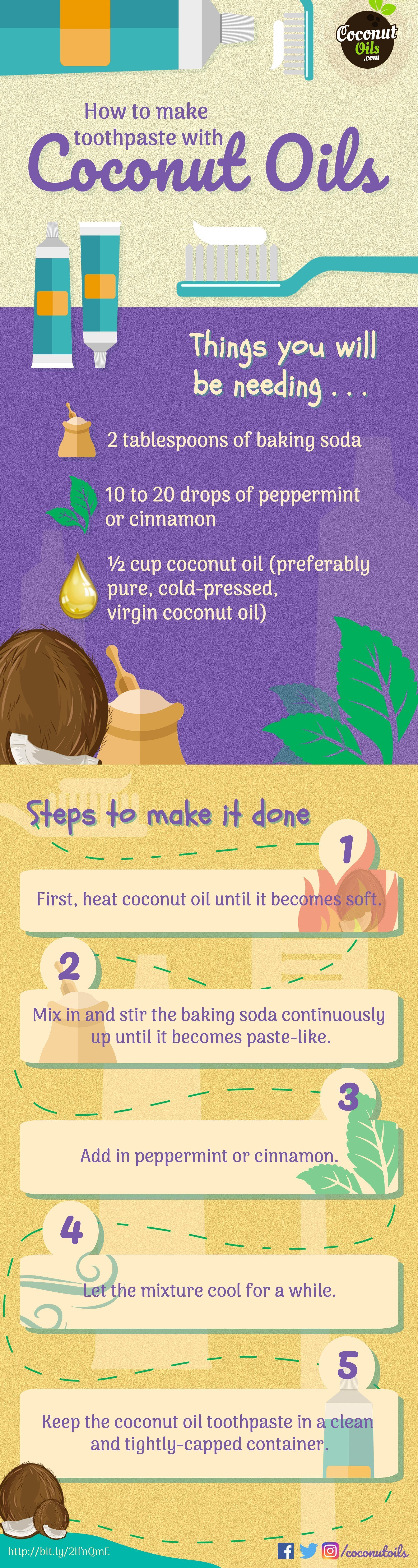 Toothpaste with organic Coconut Oil