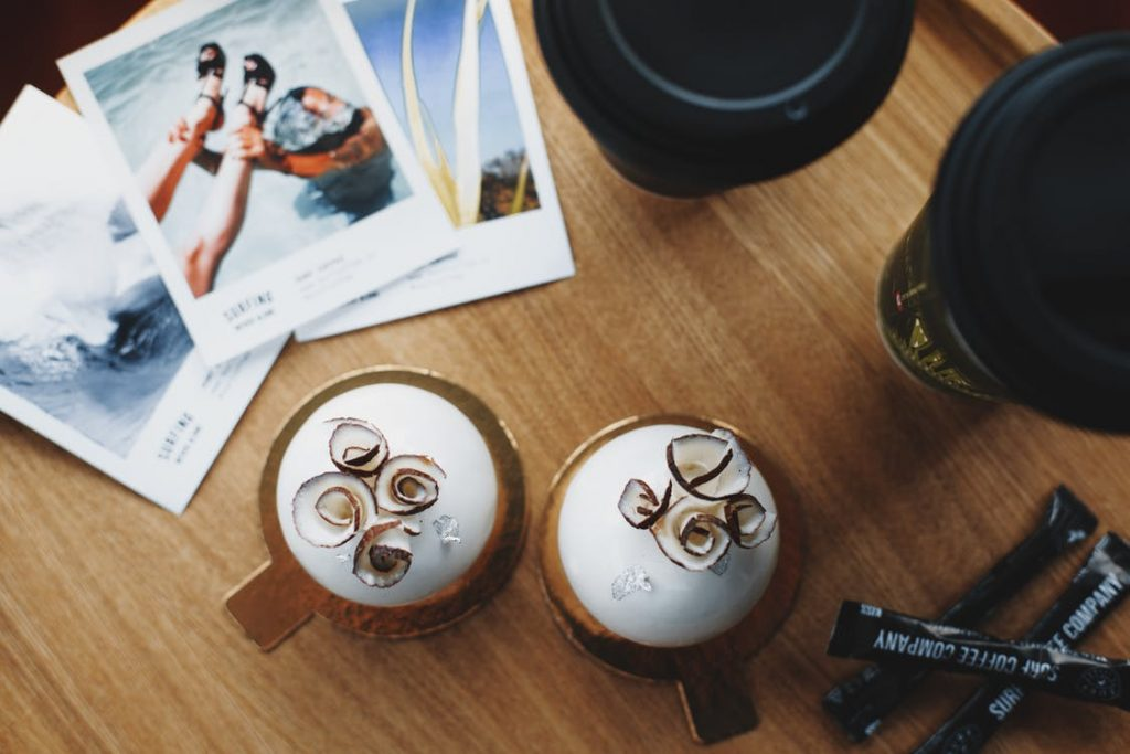 Image of pouring of cup of coffee