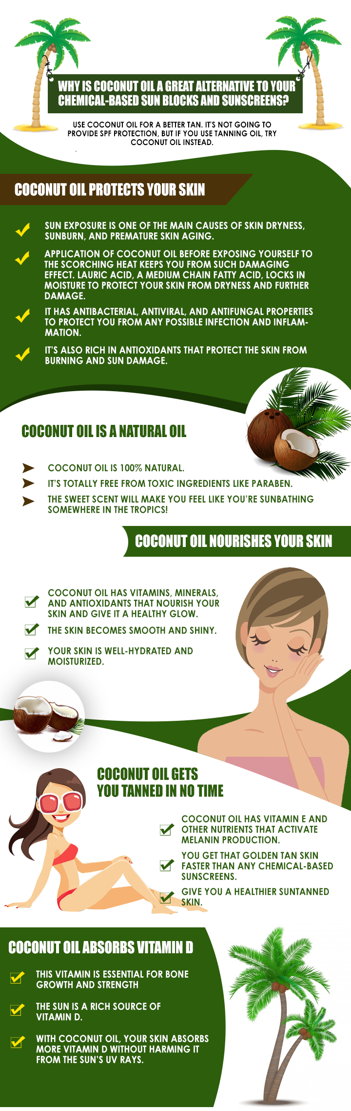 image of Tan with Coconut Oil
